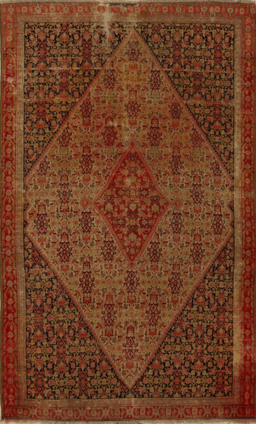 Antique  Worn Senneh Rug