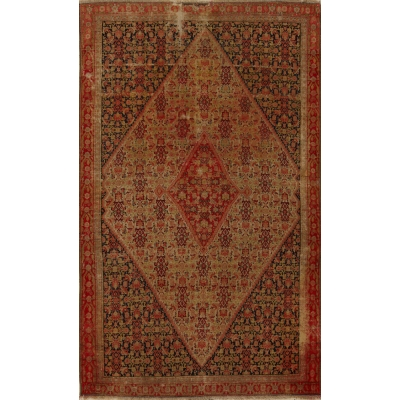 Antique  Worn Senneh Rug
