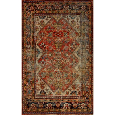Antique  Worn Mahal Rug
