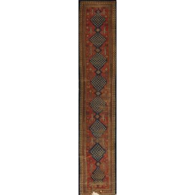 Antique  Worn Karabagh Rug