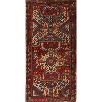 Antique  Worn Kazak Rug