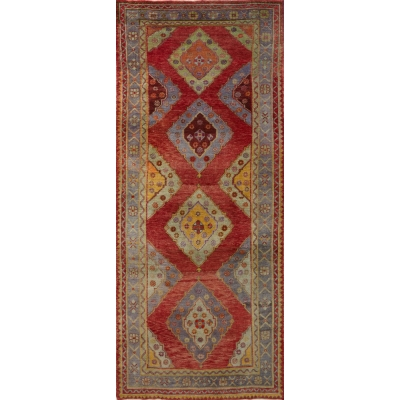 Antique  Vintage Turkish Oushak Rug