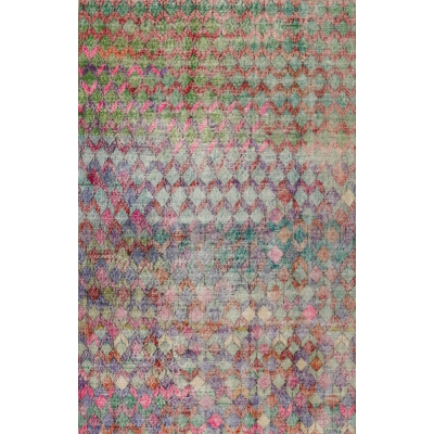 Semi-Antique  Distressed Khotan Rug