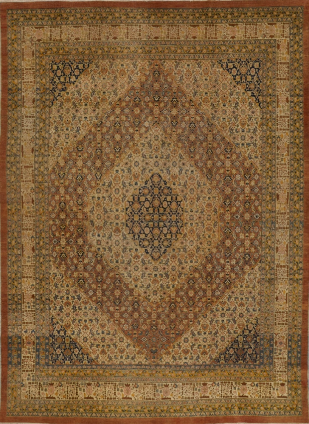 Antique  Tabriz Hajalili Rug
