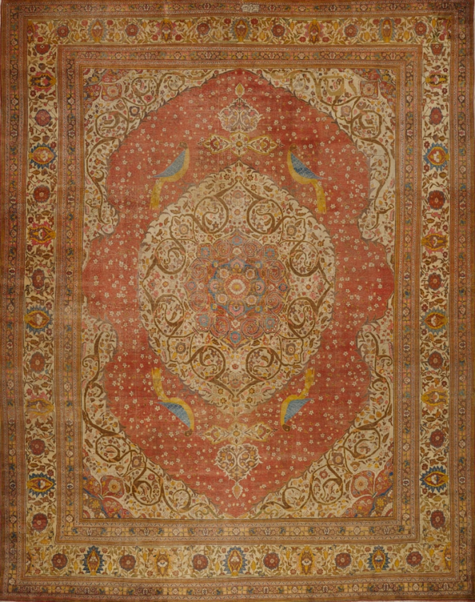 Antique  Tabriz Hajalili Rug