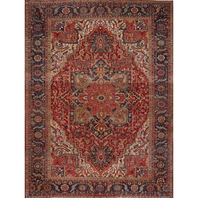 Semi-Antique  Heriz Rug