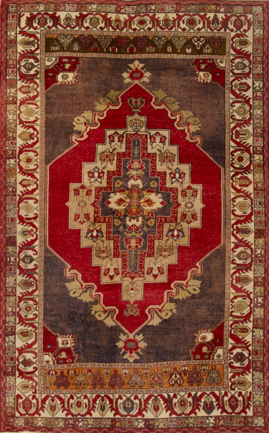 Semi-Antique  Oushak Rug