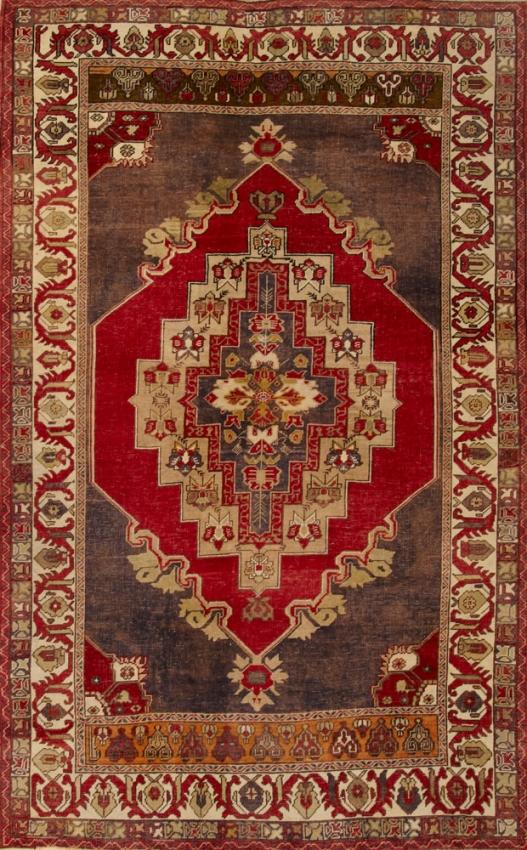 Semi-Antique  Oushak Rug