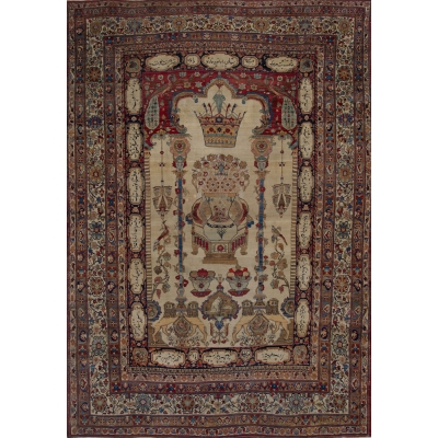 Antique  Lavar Kerman Rug