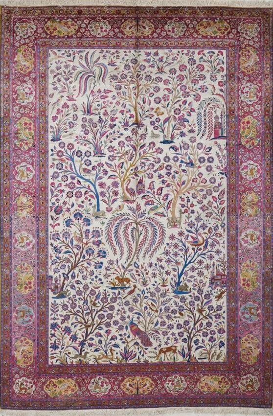 Antique  Kashan Rug