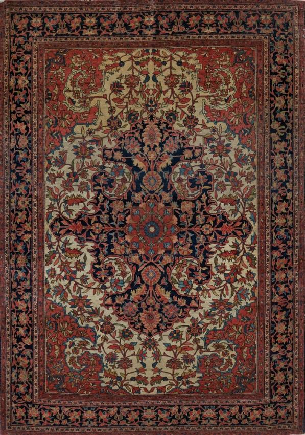 Antique  Farahan Sarouk Rug