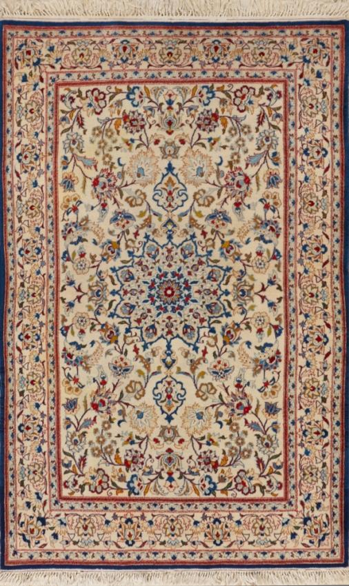 Semi-Antique Persian Esfahan Rug