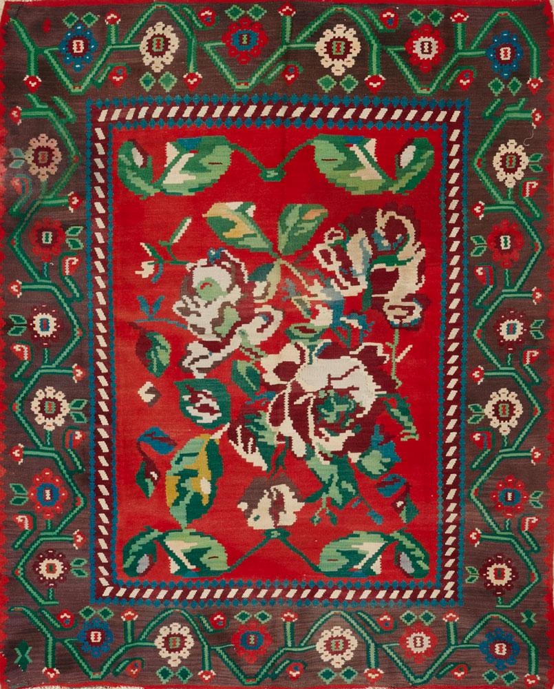 Semi-Antique Kilim Bessarabian Rug