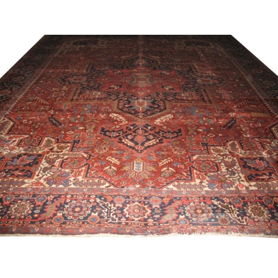 Antique Persian Heriz Rug