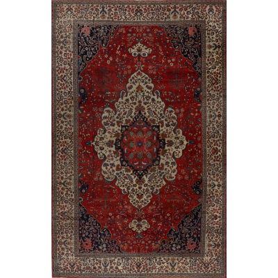 Antique Persian Mahal Farahan Rug