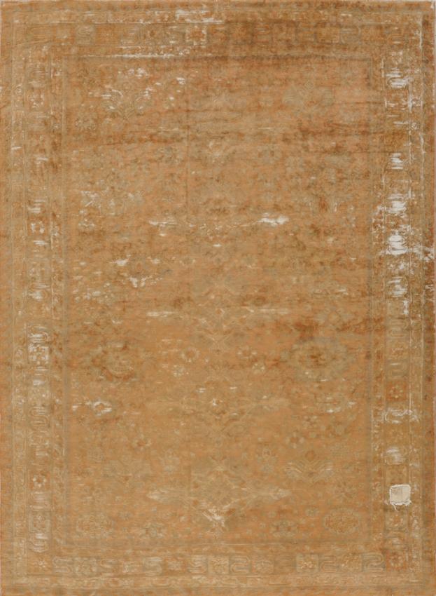Antique  Worn European Rug