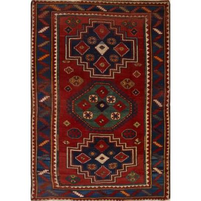 Antique Oriental Worn Kazak Rug