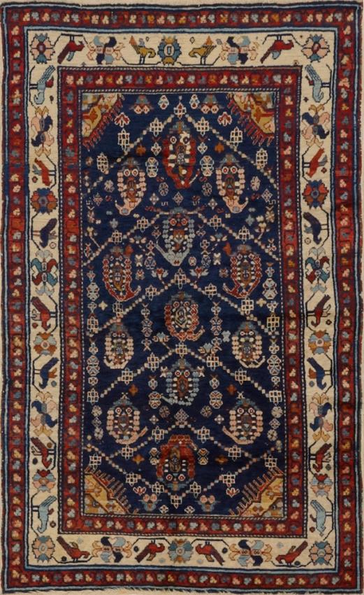 Antique  Kurdish Afshar Rug