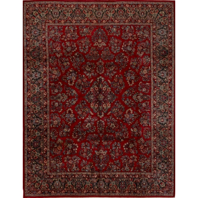 Antique Persian Mahal Sarouk Rug