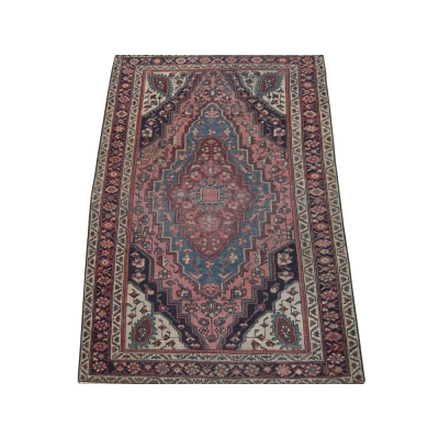 Antique Persian Worn Farahan Sarouk Rug
