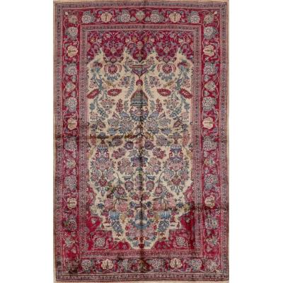 Antique Persian Silk Kashan Rug