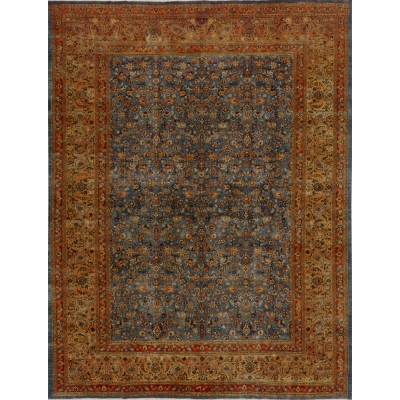 Semi-Antique Oriental Mashad Rug