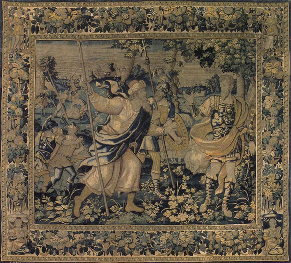 Antique Flemish Tapestry Tapestries 09289ha Matt