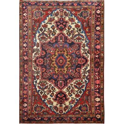 Antique Oriental Bakhtiari Rug