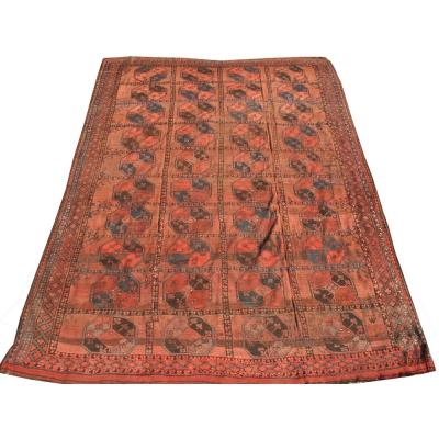 Antique  Worn Afghan Rug