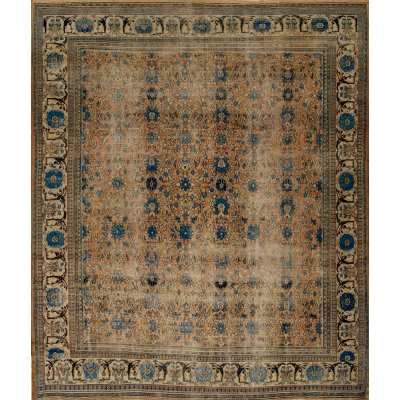 Antique  Worn Doroush Rug