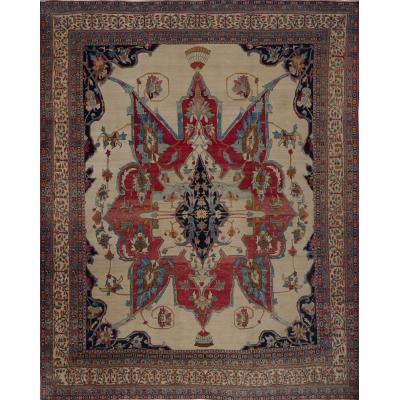 Antique Persian Kerman Lavar Rug