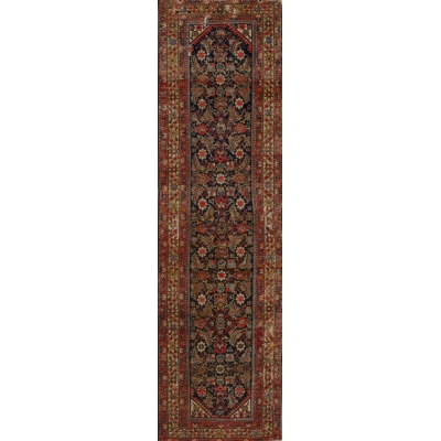 Antique Persian Worn Farahan Rug