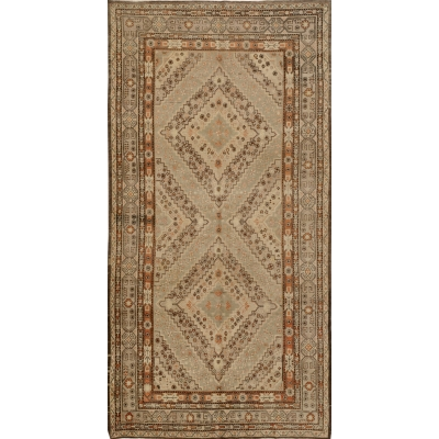 Semi-Antique Turkish Oushak Rug