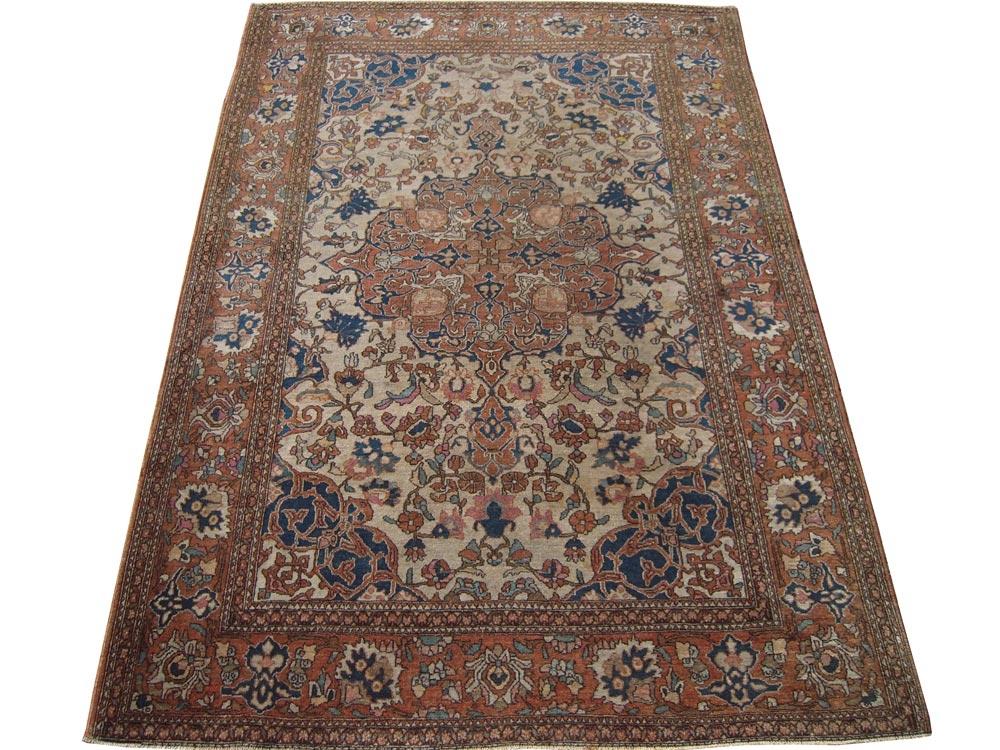 Antique Persian Esfahan Rug