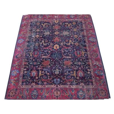 Antique Persian Worn Tabriz Rug