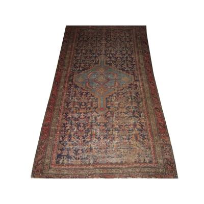 Antique Persian Worn Malayer Rug
