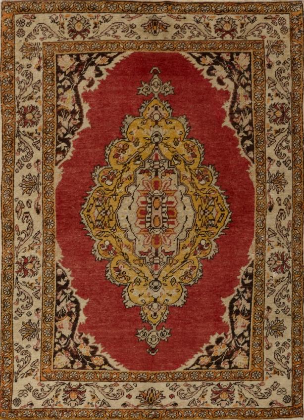Semi-Antique Turkish Oushak Rug