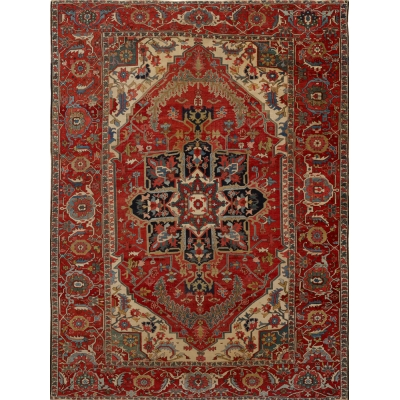Antique Persian Serapi Rug