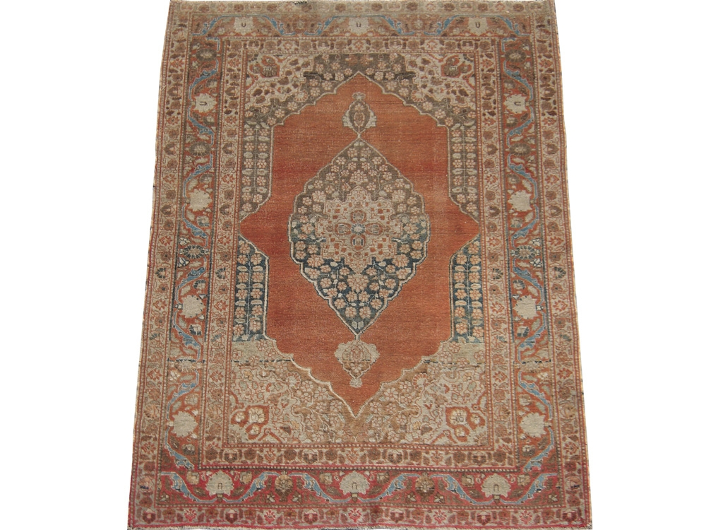 Antique Persian Tabriz Hajalil Rug