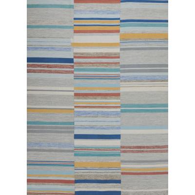 Hand-woven Wool Flat Weave Rug