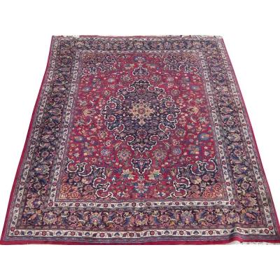 Semi-Antique Oriental Mashad Rug
