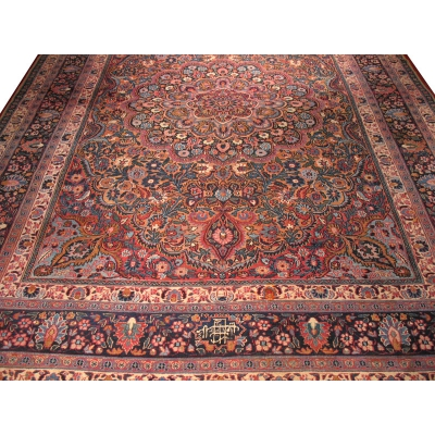 Antique Oriental Mashad Rug