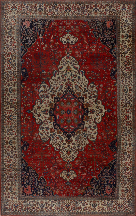 Antique Persian Mahal Farahan Rug