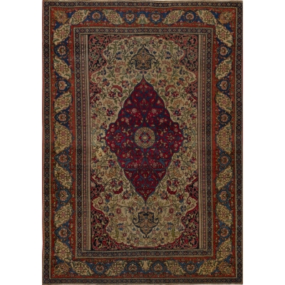 Antique Persian Esfahan Farahan Rug
