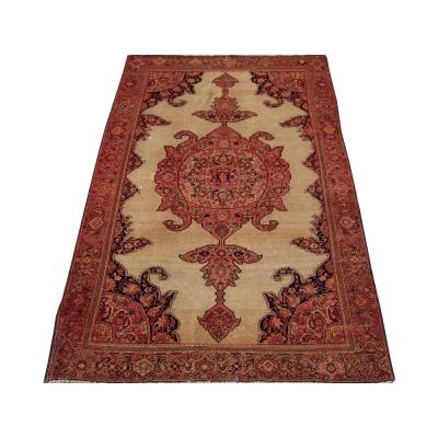 Antique Persian Worn Seneh Malayer Rug