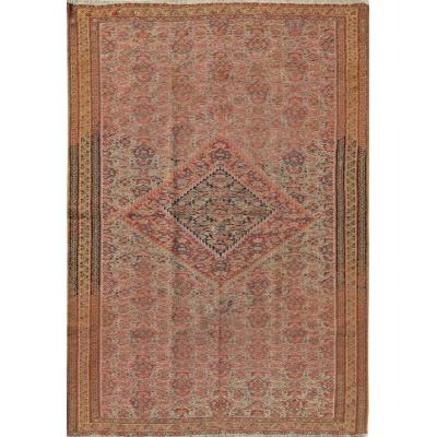 Antique Persian Kilim Senneh Rug