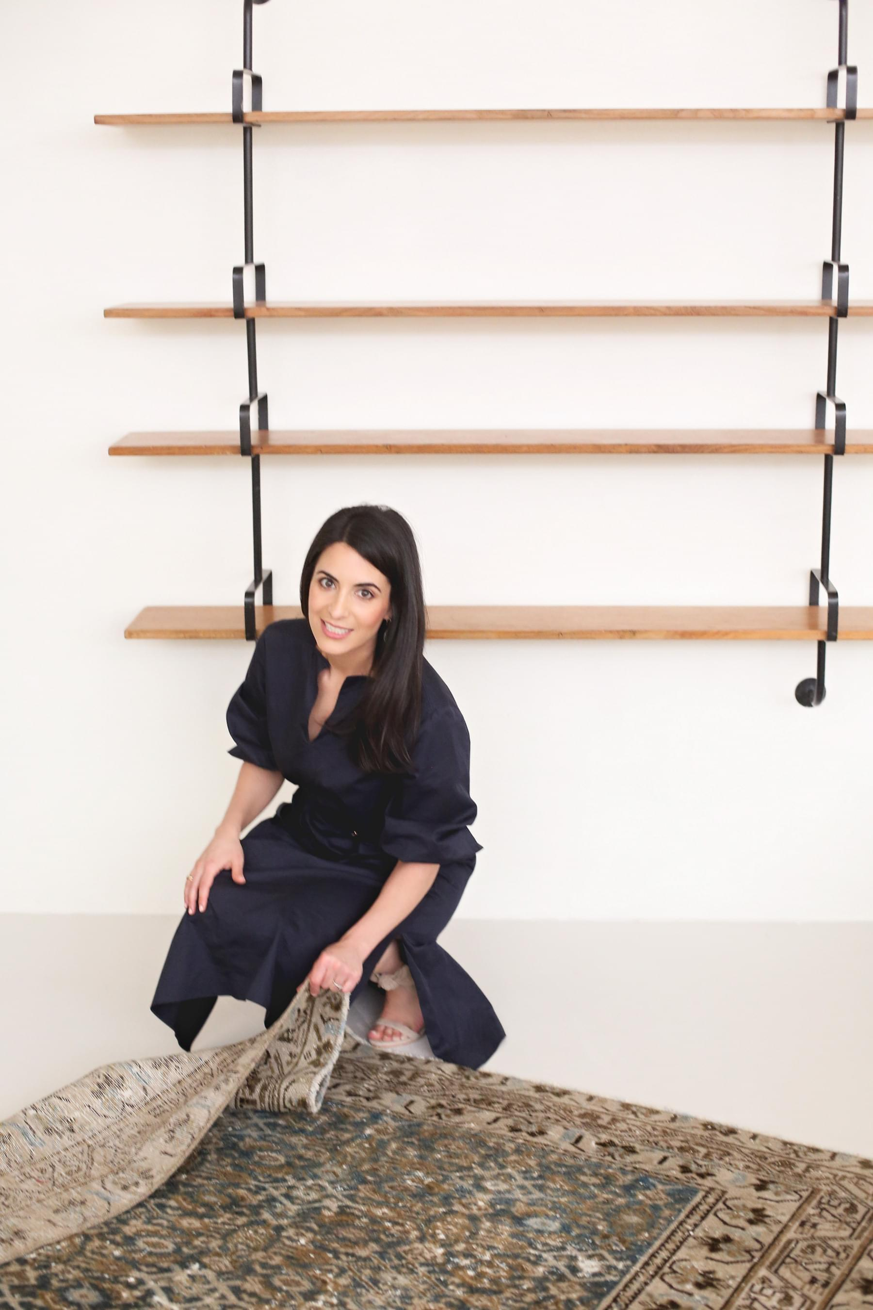 Liz Esfahani hand-picked rugs for the vintage rugs shop.